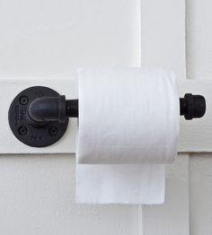 Reclaimed Plumbing Pipe Toilet Paper Holder | Flea Market Rx » For new master bathroom.