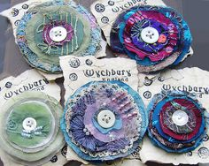 Recycled Embroidered Brooches