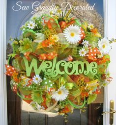 SALE SAVE 15 XLarge Spring Wreath Summer by SewGrandlyDecorated, $175.47