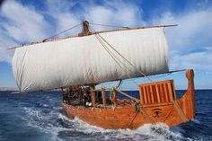 'Min of the Desert,' the ship reconstructed after the Hatshepsut relief and other ancient Egyptian maritime evidence.