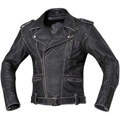 Held Hot Road Leather Jacket - Black