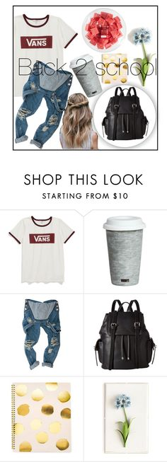 """Back 2 school"" by minimousepower ❤ liked on Polyvore featuring Vans, Fitz & Floyd, OneTeaspoon, French Connection, Sugar Paper, Tommy Mitchell and FRUIT"