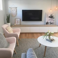 Coastal Scandi lounge room by Sapphire Living Interiors ( on In. Scandi Living Room, Coastal Living Rooms, Living Room Tv, Small Living Rooms, Living Room Interior, Apartment Living, Living Room Designs, Small Living Room Ideas With Tv, Coastal Interior