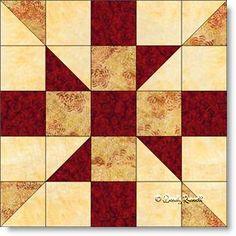 Crazy House quilt block pattern