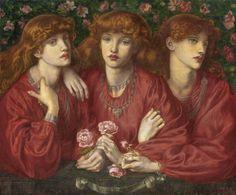 Dante Gabriel Rossetti (1828 - 1882) - Rosa Triplex, a triple portrait of May Morris