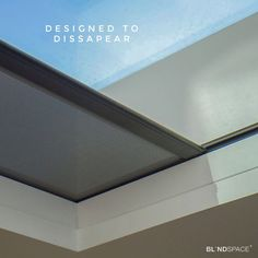Designed to Disappear. The TESS™ 660 tensioned skylight blind from Guthrie Douglas concealed with Blindspace. The TESS™ 660 can be provided in many colour finishes and a wide range of fabrics - in this installation, black hardware has been selected to minimize the visual impact when the blind is hidden inside the Blindspace frame.
