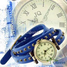 Wholesale - New Classic Rivet Design Fashion Lady Leather Bracelet Watch High Quality 100pc/lot W0568