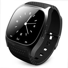 Bluetooth Watch LED Light Display with Dial / Call Answer / SMS Reminding / Music Player / Anti-lost / Passometer / Thermometer for Samsung / HTC + More - R-Watch M26 - Black. Synchronizes messages, contacts, call records, calendars, news, music from a Android or Apple phone. Pushes latest messages or notification (LINE, Instagram Facebook (message), Gmail, CNN) from a smart phone. Multiple meters available: Altimeter, Barometer, Pedometer, Stopwatch and Thermometer. Connected to a smart...