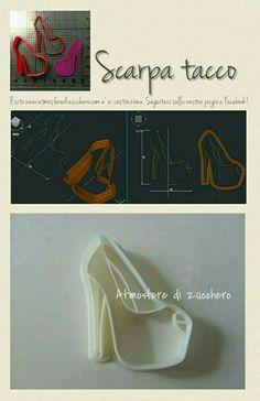 Scarpa con il tacco _ shoes| Tagliabiscotti personalizzati