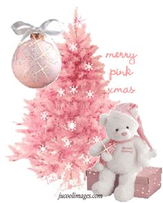 Pink Christmas Graphics and GIF Animation for Faceboook Pink Christmas Tree, Babies First Christmas, Christmas Greetings, Beautiful Christmas, Winter Christmas, All Things Christmas, Christmas Holidays, Merry Christmas, Christmas Scenery