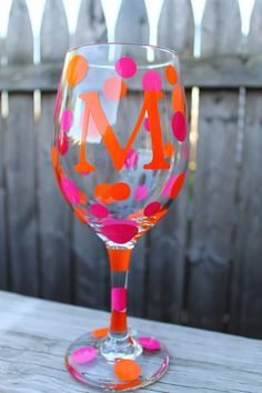 A personal favorite from my Etsy shop https://www.etsy.com/listing/101704331/personalized-wine-glass-20oz