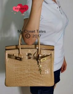 $$$$$             As small as the picture is, this Hermes ♥ crocodile Birkin deserves its very own blog entry.An HGbag for 95% percent...