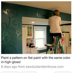 A cool easy way to change up your walls.