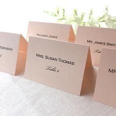 blush pink wedding place cards printed blush pink wedding escort card simple modern pink wedding name cards printed on folded card stock - Printed Place Cards