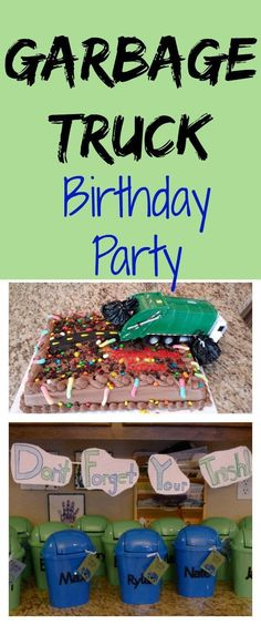 Great ideas for a little boy's garbage truck birthday party!  Activities,party…