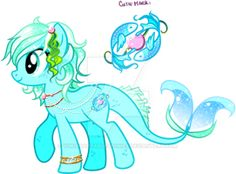 Sea Custom Pony by KingPhantasya
