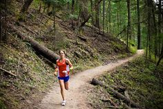 """that's what I love-just being a barbarian and running through the woods"" - Jenn Shelton, Ultra-runner"