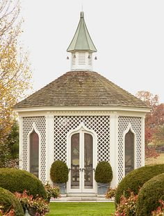 Overbrook Farm, Lexington, Kentucky - The gazebo recalls Moorish designs in its graceful arches and tinkling bells suspended from the cupola. Photo Credit: Pieter Estersohn