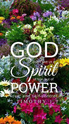 Garden 2 Timothy 1:7