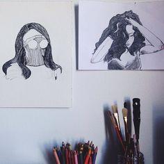 studio  #art #myart #artwork #artist #artistsoninstagram #artistlife #sketchbook #sketch #drawing #illustration #illustrationoftheday #artoftheday #instaart #instaartist #studio #artworkinprogress #inkdrawing