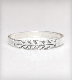 Silver Feather Stackable Ring | Jewelry Rings | Kemi Gadaleta | Scoutmob Shoppe | Product Detail