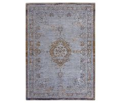 Medallion rug from the Fading World collection of Louis De Poortere - Grey Ebony 8257
