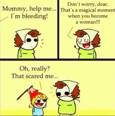 Mommy I'm Bleeding #puberty #girls #bleeding #periods