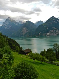 Lake Lucerne - pic was taken close to Brunnen, Switzerland. I know exactly were that is! I've been there!!!!!!!!