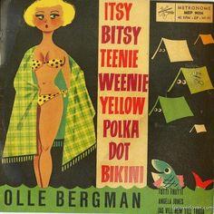 album cover, vintage bikini