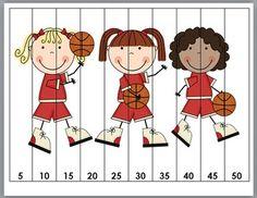 SPORTS COUNTING PUZZLES {BASEBALL, BASKETBALL, FOOTBALL, HOCKEY, SOCCER} - TeachersPayTeachers.com