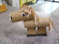 56 homemade horse kid craft http://hative.com/homemade-animal-toilet-paper-roll-crafts/