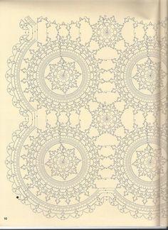 Crochet Chart, Crochet Motif, Crochet Doilies, Crochet Flowers, Crochet Stitches, Free Crochet, Doily Patterns, Crochet Patterns, Crochet Tablecloth