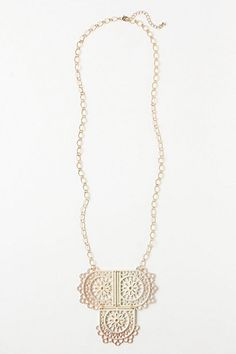 Lace Flag Necklace #anthropologie  Could do this with FSL embroidery