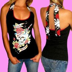 Halter Top TShirt ... This would be easy with an old tshirt and some ribbon or a scarf