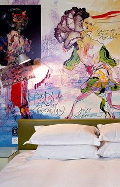 Hotel Petit Moulin in Paris designed by Christian Lacroix http://www.paris-hotel-petitmoulin.com/
