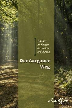 Es gibt einiges zu entdecken, in diesem oft unterschätzten Kanton. So zählt er zu den waldreichsten Kantonen der Schweiz: ein Drittel der Fläche ist mit Wald bedeckt. Auch für Geschichtsfreunde wird einiges geboten. Im Aargau gibt es über 40 Burgen und Schlösser, unter anderem die Habsburg, bekannt als die Stammburg der Herrscherdynastie der Habsburger. Auf dem Aargauer Weg erlebt man von Frick nach Muri einen abwechslungsreichen Mix zwischen Landschaft und Kultur. Hidden Places, Places To Go, Bergen, Historical Sites, Long Distance, Alps, Continents, Switzerland, Castle