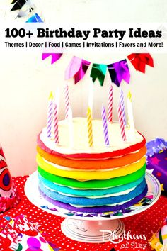 There are many elements that go into planning a birthday party. This article contains links to over 100 birthday party ideas to help you get started. Birthday Party themes, decorations, games, food, cakes, cupcakes, invitations, favors and more!