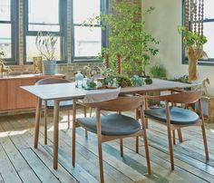 ホースシュー ダイニングテーブル | ACTUS Interior Design Living Room, Living Room Designs, Interior Decorating, Dining Table Chairs, Dining Room, Kitchen Dining, Midcentury Modern Dining Table, Chair Design, Decoration