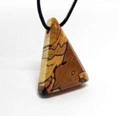 Wooden pendant Spalted Oak  Oil Finish by MASSIVART on Etsy