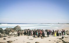 beach wedding locations for a destination wedding in Australia during the summer. Photos by Mitchell J Carlin Photography || Seen on http://www.jetfeteblog.com/australia-new-zealand/vintage-beach-wedding-cabarita
