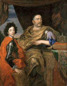 Jerzy Eleuter Szymonowic-Siemigowski-Portrait of John III Sobieski (1624-96) with his Son Jakub