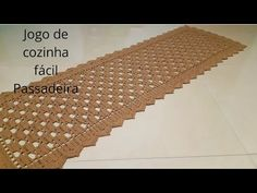 JOGO DE COZINHA SIMPLES E FÁCIL ( PASSADEIRA PASSO A PASSO) - YouTube Crochet Table Mat, Crochet Square Patterns, Crochet Lace, Outdoor Blanket, Youtube, Make It Yourself, Knitting, Amelia, Kitchen Playsets