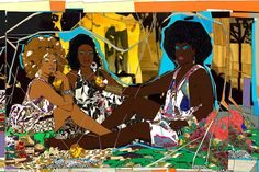 """Need a terrific blended lesson  for Black History Month? In """"Artists Who Illuminate Injustice and False Stereotypes"""" by Arthenia students take a look at Kara Walker, Mark Bradford, Kerry James Marshall, and others whose work promotes dialogue."""