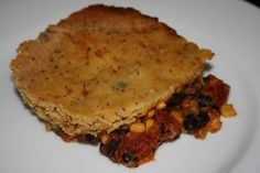 Crockpot Tamale Pie  --Cornbread topping   --1 can drained and rinsed black beans  --1 can fire roasted tomatoes  --1 can drained corn  --1 T chili powder  --1 t cumin  --1/2 t paprika  --1/4 cup diced onion (I had some leftover in the fridge from a previous dish)  --1/2 cup shredded cheddar cheese