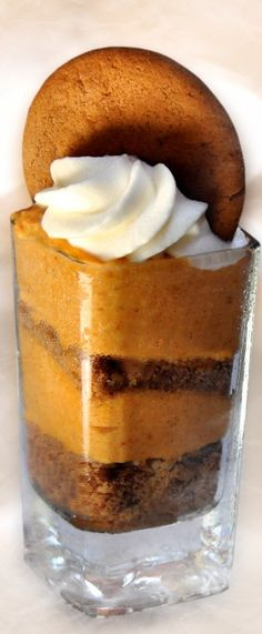 Pumpkin Pie Shot Glass Dessert