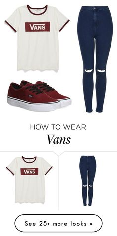 """Untitled #381"" by caataariinaa on Polyvore featuring Vans and Topshop"