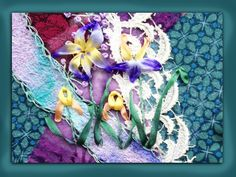 how to embroider a silk ribbon iris flower group