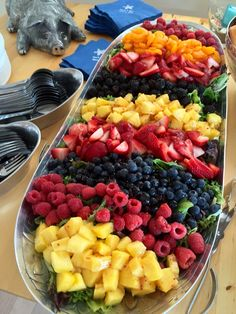 Mixed Greens Salad with Fresh Fruit - Catering by Debbi Covington - Beaufort, SC