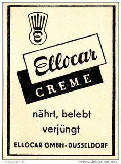 Original-Werbung/ Anzeige 1950 er Jahre - ELLOCAR CREME - ca. 65 x 90 mm
