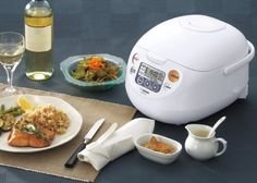 Zojirushi NS-WAC10-WD 5.5-Cup (Uncooked) Micom Rice Cooker and Warmer  Zojirushi Micom 5.5 cup Rice Cooker and Warmer computerized fuzzy logic technology controls cooking temperature. Healthy brown rice setting. Double sensor and double-heater works in tandem to fine-tune cooking cycle for precise cooking. Automatic keep warm and extended keep warm feature. Easy-to-read LCD control panel with Clock and Timer functions. Delay timer (2 settings) provides freshly cooked rice at the prog..